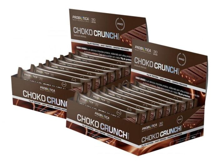 2 Cx Choko Crunch Chocolate Proteico 12 Un - Probiótica Promoção (0)