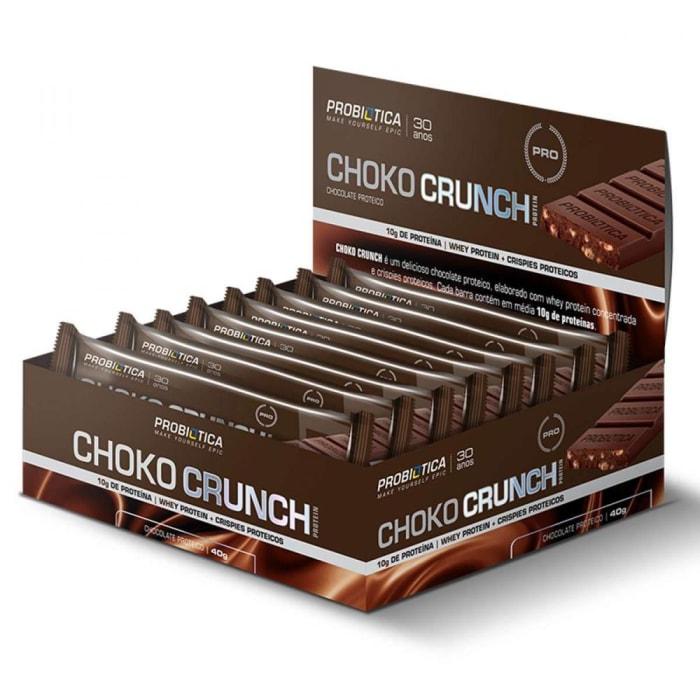 Choko Crunch Chocolate Proteico ( 12 unidades ) - Probiótica Promoção  (0)
