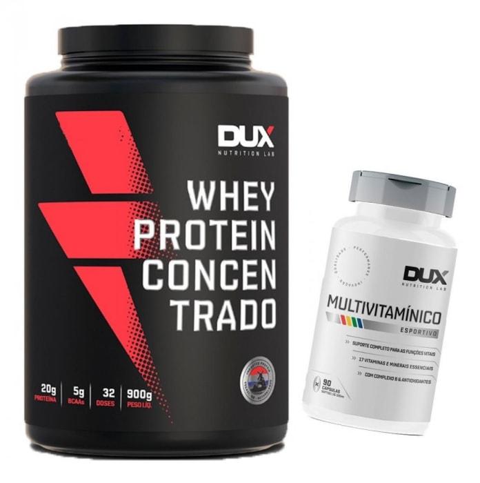 Whey Protein Concentrado 900g + Multivitamínico – Dux Nutrition   (0)