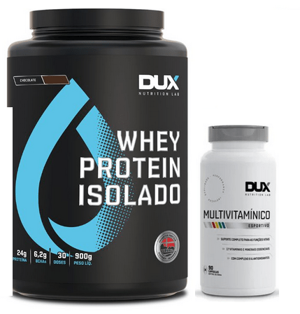 Whey Protein Isolado 900g + Multivitamínico – Dux Nutrition  (0)