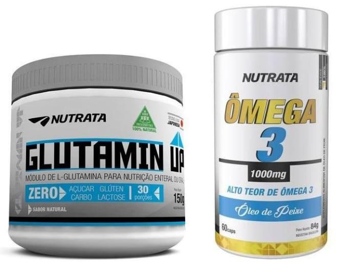 Glutamina 150g + Ômega 3 1000mg - 60 Cápsulas - Nutrata   (0)