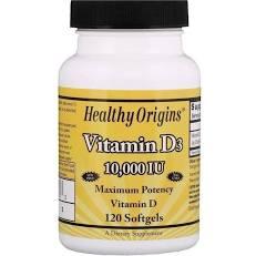 Vitamina D3 10000 iu 120 Softgels Importado - Healthy Origins  (0)