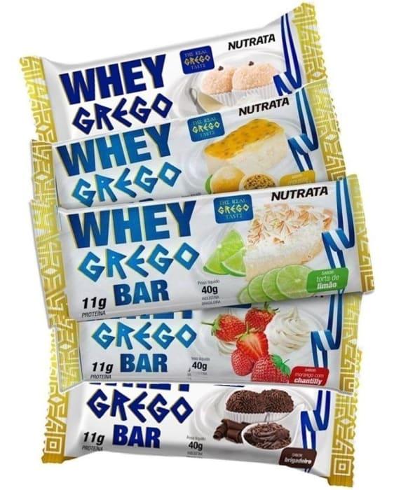 Barra Whey Grego Bar Unidade de 40g  - Nutrata (0)