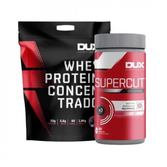 Whey Protein Concentrado 1,8kg + SuperCut -  Dux Nutrition  (0)