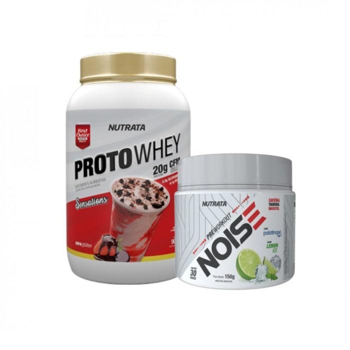 Proto Whey 900g + Pré Workout Noise - Nutrata  (0)