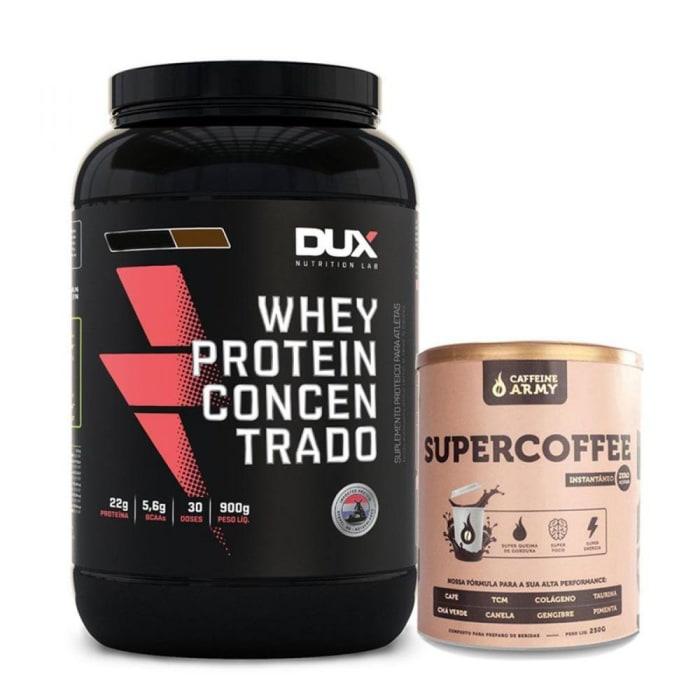 Combo Whey Protein DUX Concentrado 900g + Super Coffee (0)