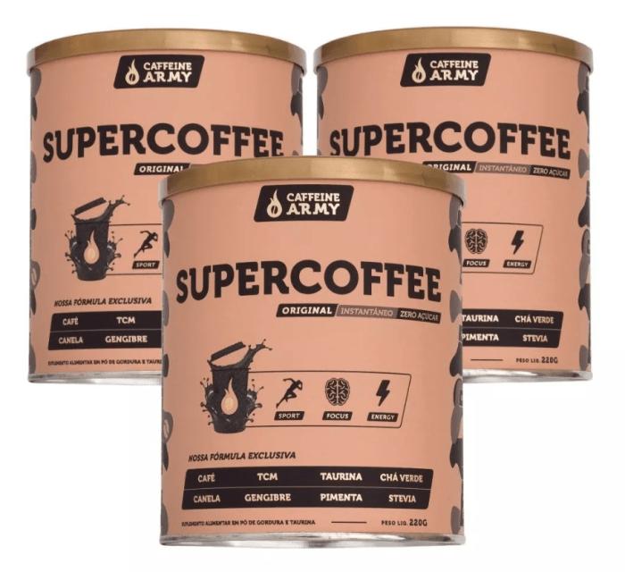 03 unidades Supercoffee 250g - Caffeinearmy  (0)