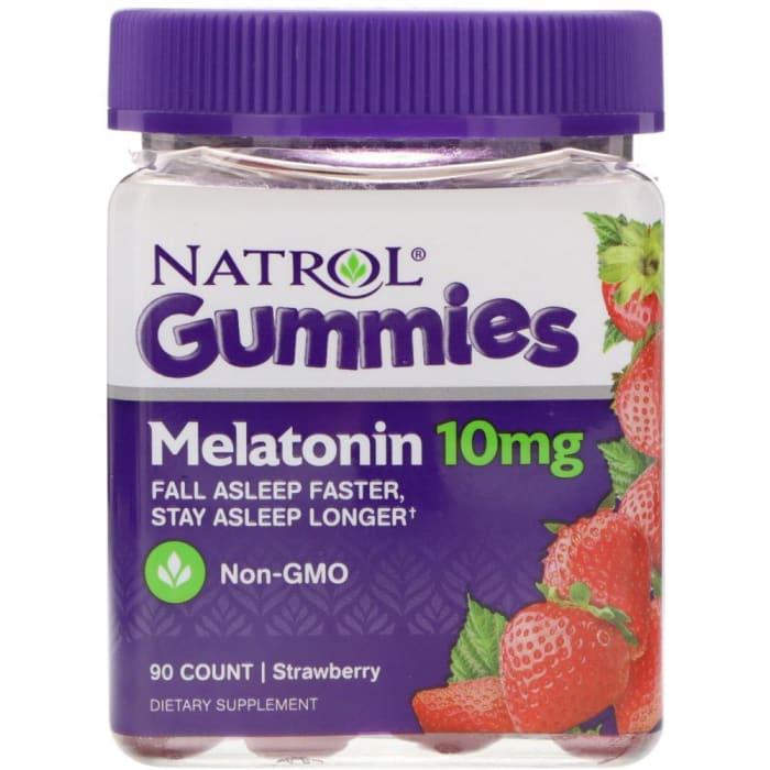 Gomas de Melatonina 10 mg 90 Gomas Sabor Morango - Natrol  (0)